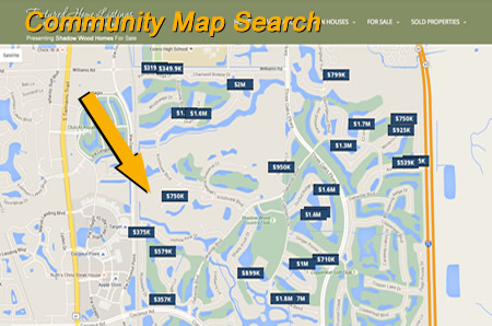 community map search with active listings
